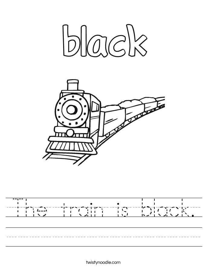 The train is black. Worksheet