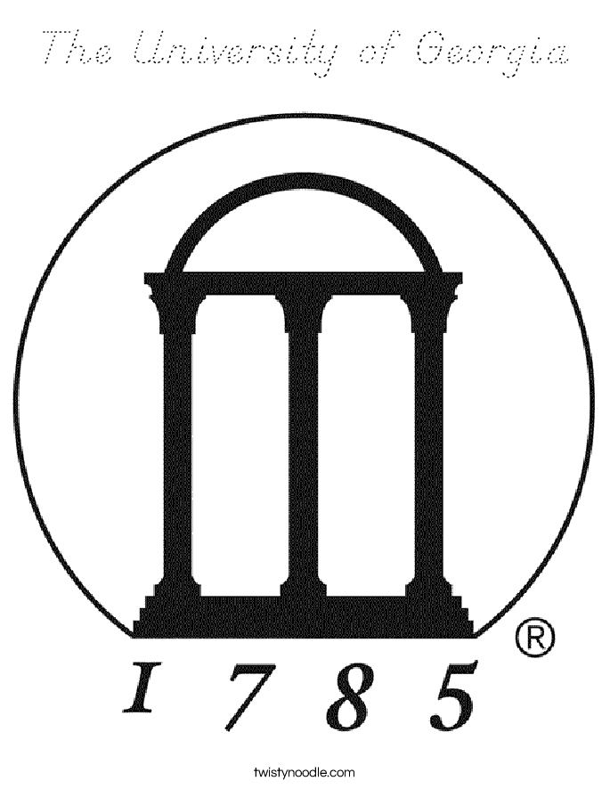 The University of Georgia Coloring Page
