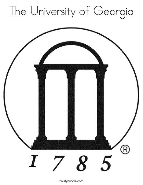 The University of Georgia 1785 Coloring Page