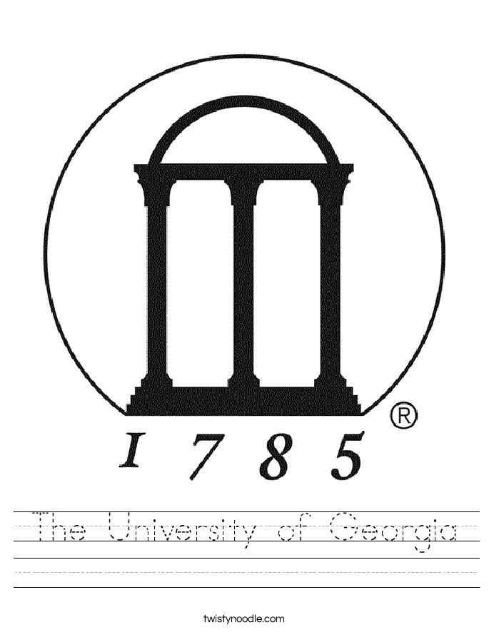 The University of Georgia Worksheet