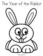 The Year of the Rabbit Coloring Page