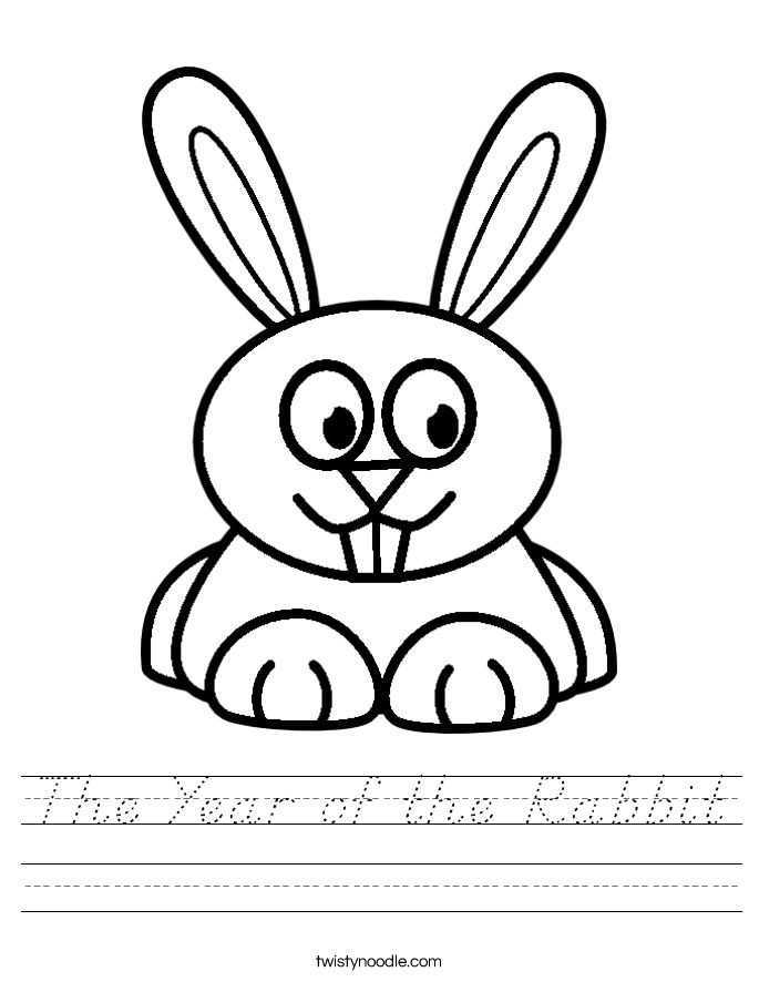 The Year of the Rabbit Worksheet