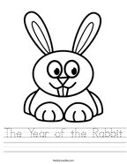 The Year of the Rabbit Handwriting Sheet