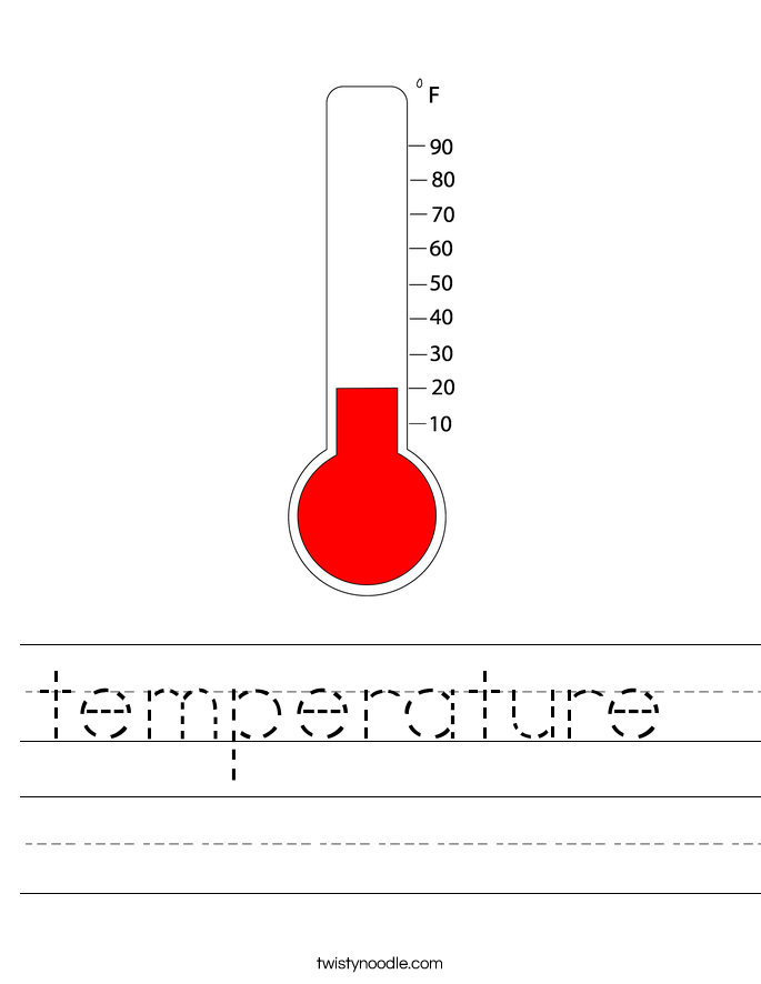 temperature Worksheet Twisty Noodle – Temperature Worksheet