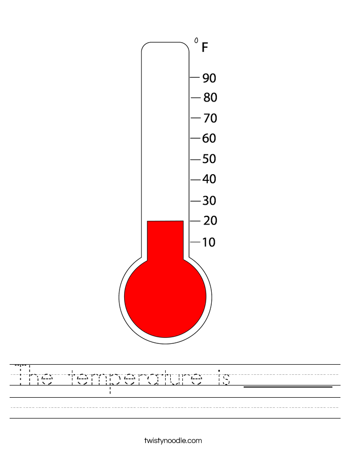 The temperature is Worksheet Twisty Noodle – Measuring Temperature Worksheets