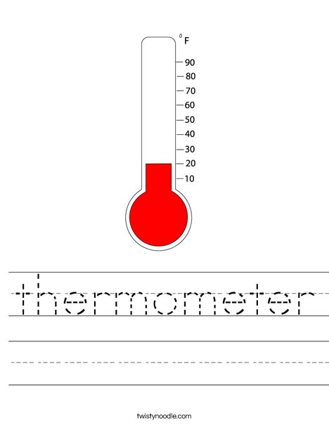 Reading the Thermometer | Worksheet | Education.com