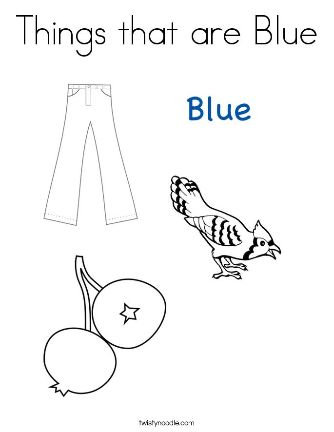 Color Blue Art Coloring Coloring Pages
