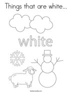 Things that are white Coloring Page