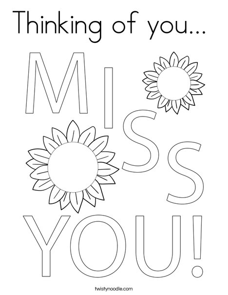 Thinking of you... Coloring Page
