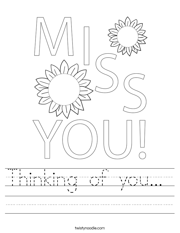 Thinking of you...  Worksheet