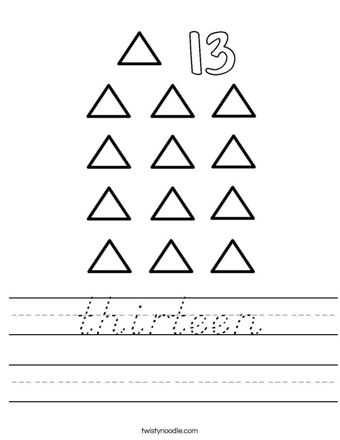 thirteen Worksheet