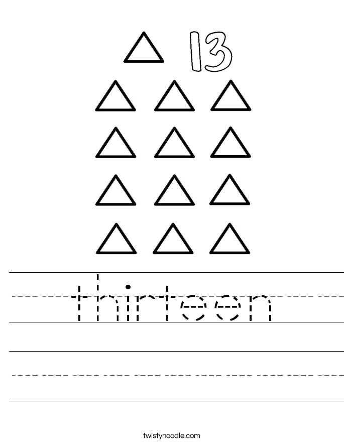 thirteen Worksheet
