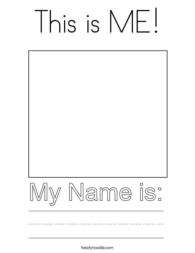 This is ME! Coloring Page