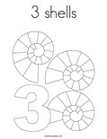 3 shells Coloring Page