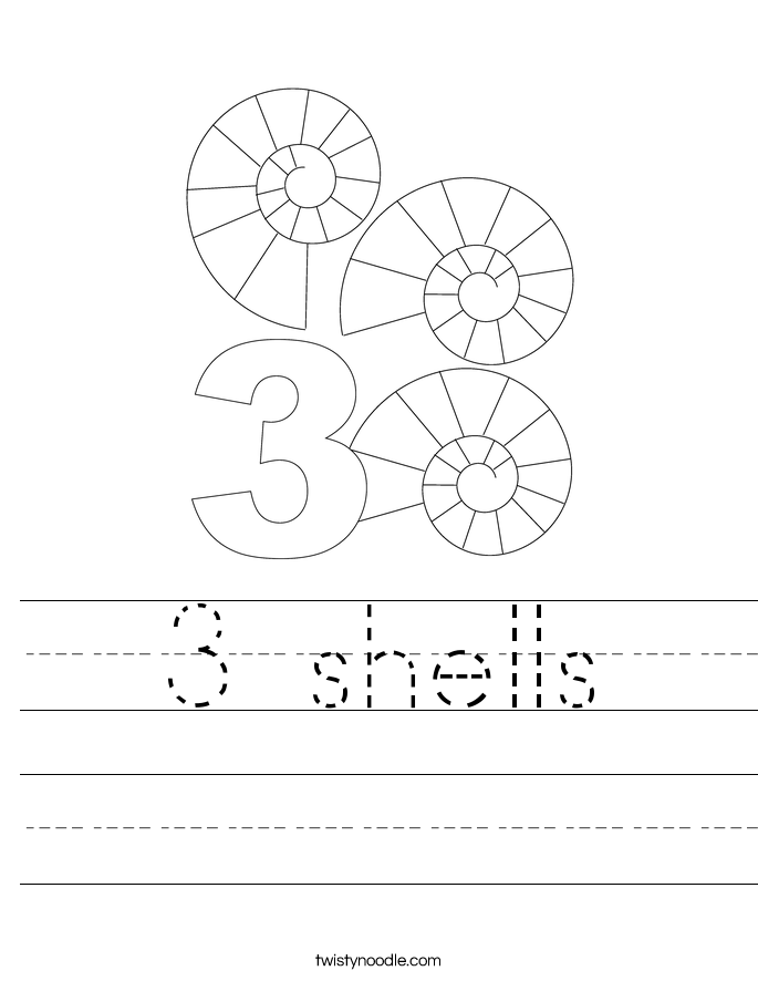 3 shells Worksheet