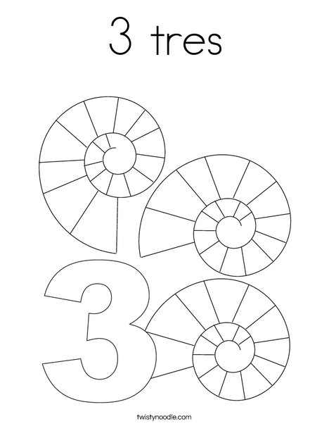 Three Shells Coloring Page