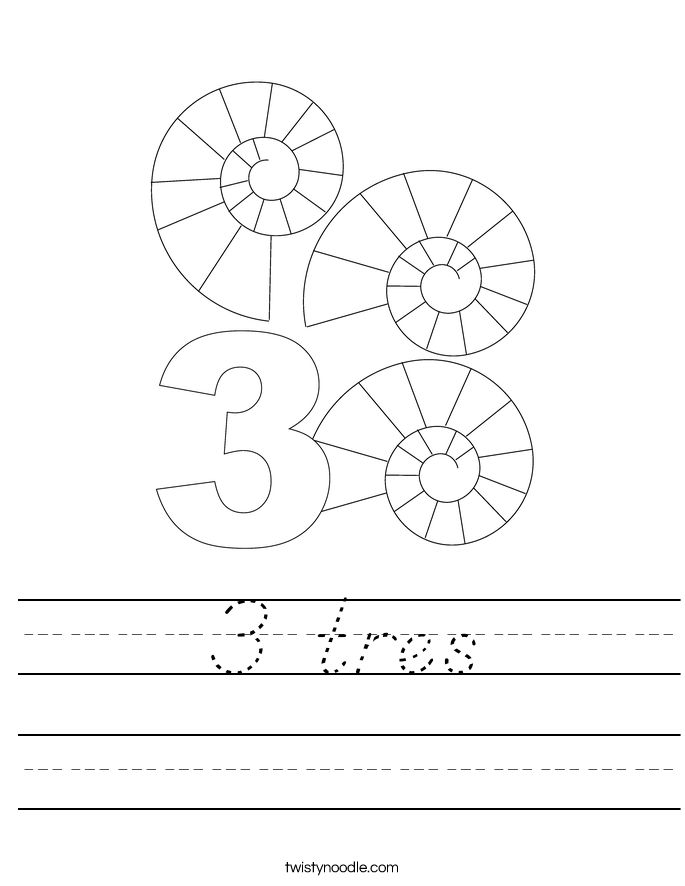 3 tres Worksheet