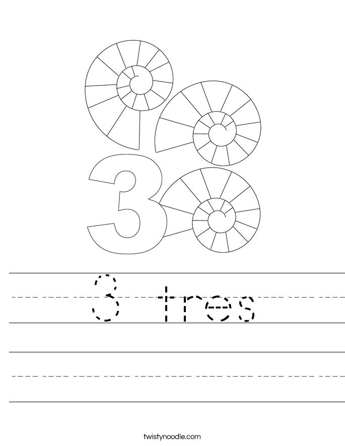 3 tres Worksheet