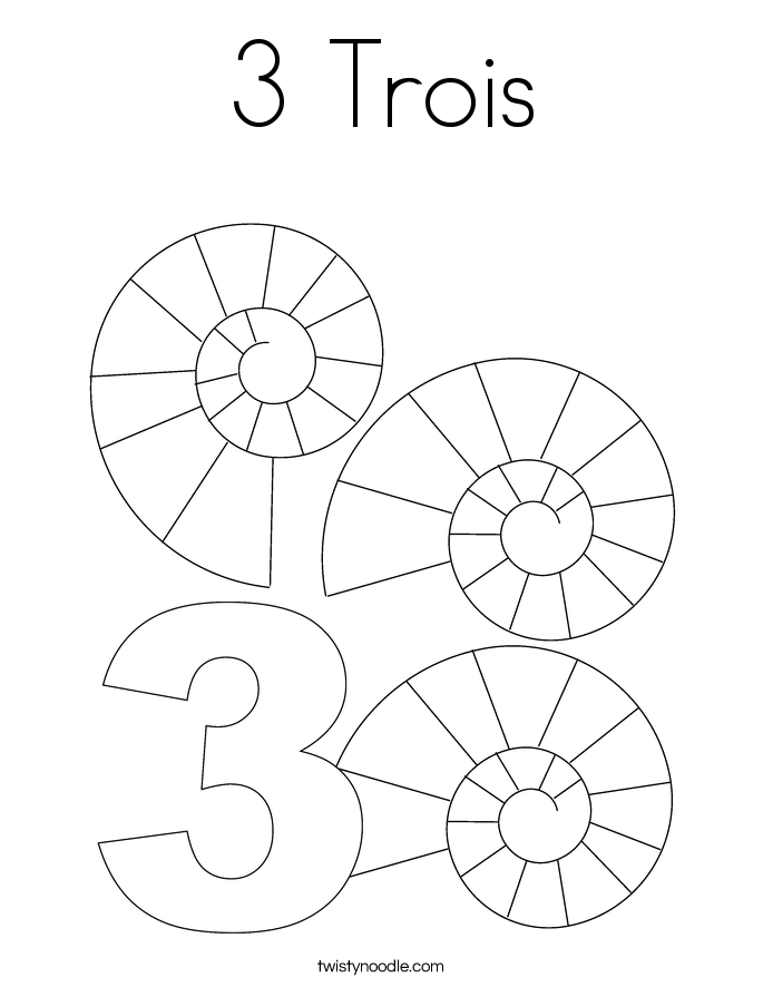 3 Trois Coloring Page