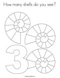 How many shells do you see?Coloring Page