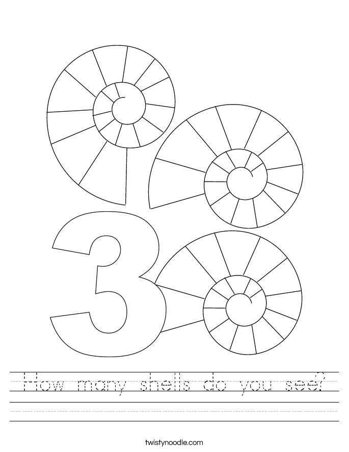 How many shells do you see? Worksheet