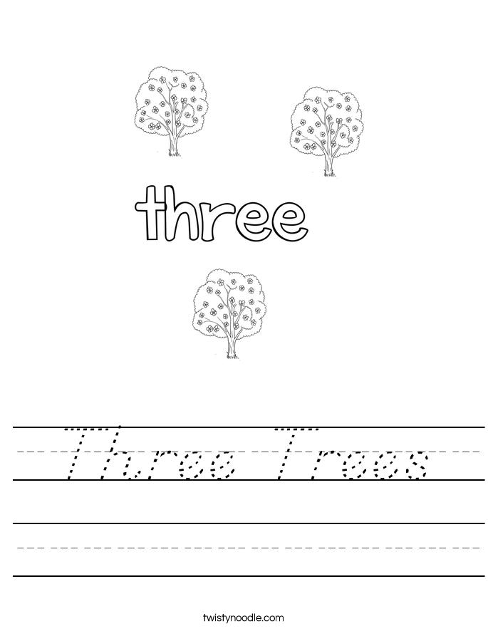 Three Trees Worksheet