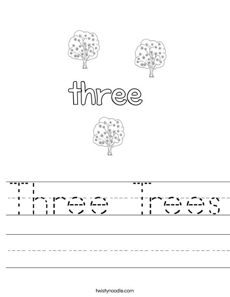 Three Trees Worksheet