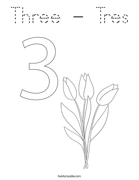 Elephant Three Coloring Page