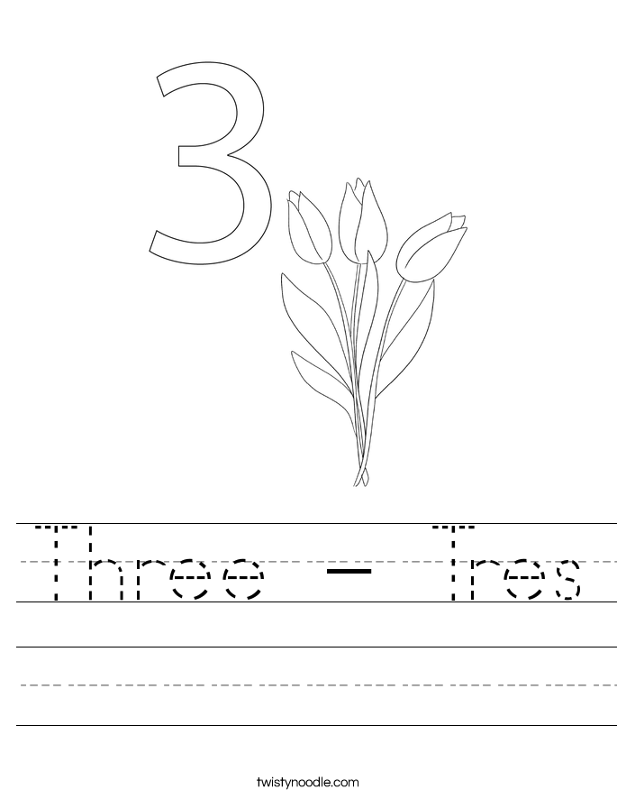 Three - Tres Worksheet