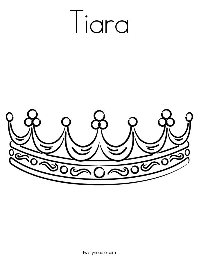 Tiara Coloring Page