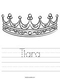 Tiara Worksheet