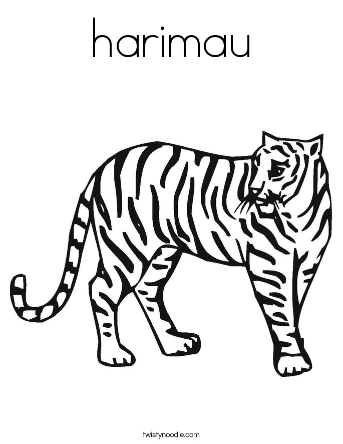 harimau Coloring Page - Twisty Noodle