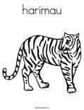 harimau Coloring Page