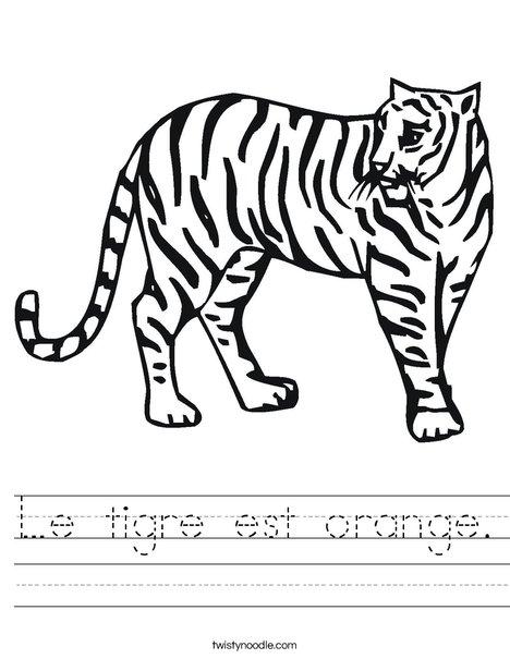 Tiger Worksheet