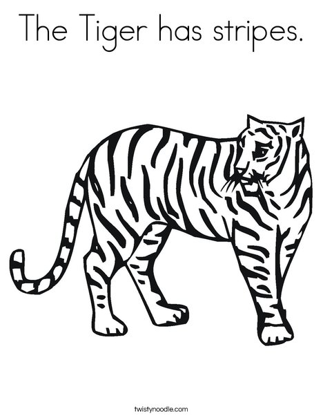 tiger coloring page - Tiger Coloring Page