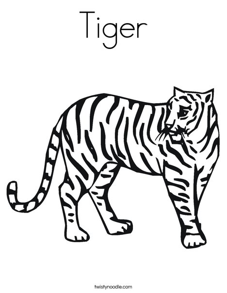african tiger coloring pages - photo#29