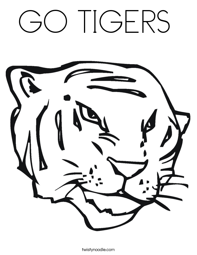 go tigers coloring page twisty noodle