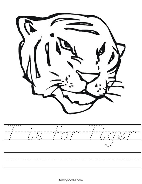 Tiger Head Worksheet