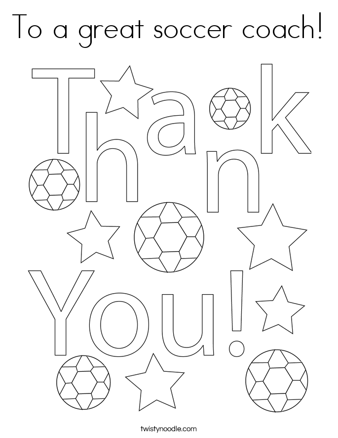 To a great soccer coach! Coloring Page