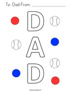 To: Dad From: _________________ Coloring Page