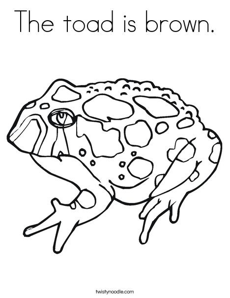 Toad with Spots Coloring Page