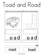 Toad and Road Coloring Page