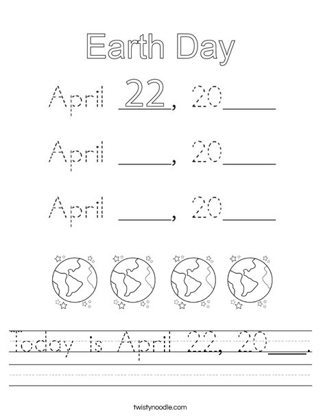 Today is April 22, 2020. Worksheet
