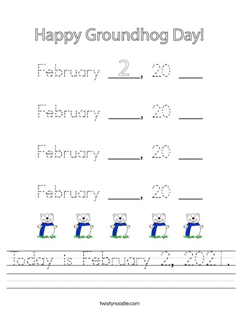 Today is February 2, 2020 Worksheet