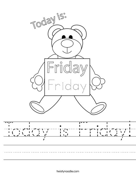 Today is Friday! Worksheet