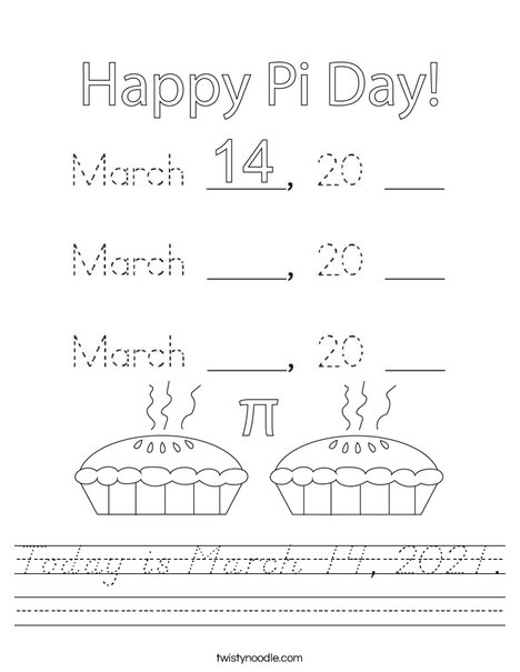 Today is March 14, 2020. Worksheet