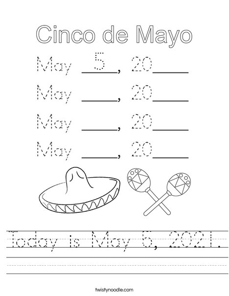 Today is May 5, 2020. Worksheet