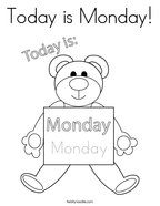 Today is Monday Coloring Page