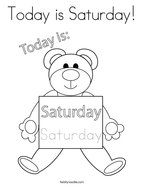 Today is Saturday Coloring Page