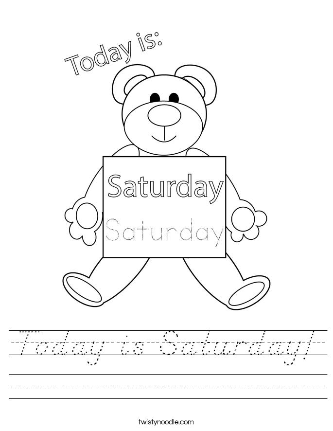 Today is Saturday! Worksheet